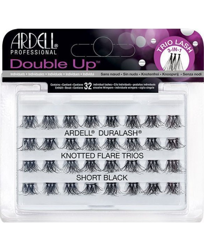 ARDELL DOUBLE UP INDIVIDUAL LASHES FLARE TRIOS SHORT