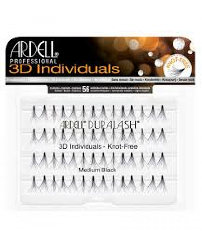 ARDELL 3D INDIVIDUALS LASHES KNOT - FREE MEDIUM