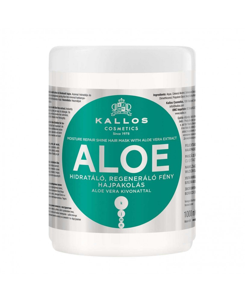 KALLOS Aloe Vera Moisture Repair Shine Hair Mask 1000ml  c2980372ceb