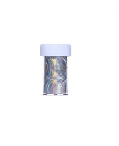 NAIL ART FOIL SILVER HOLOGRAPHIC